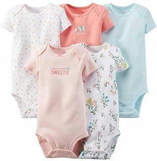 532e1bbcd ARAUS Pack Con 5 Unidades Recién Nacido Bebé Corto Mangas Romper Bodies  Algodón 3-24Meses