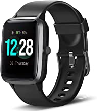 LETSCOM Smart Watch Fitness Tracker Heart Rate Monitor Step Calorie Counter Sleep Monitor Music...