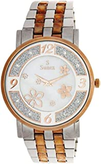 Sunex Women's White Dial Stainless Steel Band Watch - S6385RGW