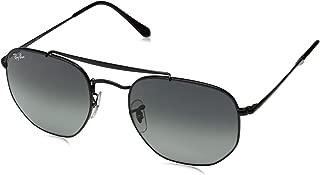RB3648 The Marshal Square Sunglasses, Black/Grey Gradient, 54 mm