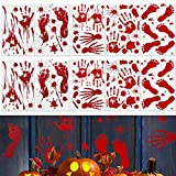 DECARETA 10 hojas Calcomanías de ventana de terror de Halloween Pegatinas de pared Horror Sangriento...