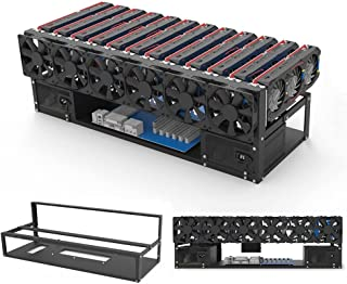Mining Rig Frame - 12 GPU Steel Open Air Miner Mining Computer Frame Rig Case for Crypto Coin Currency Bit Coin ETH ETC ZE...