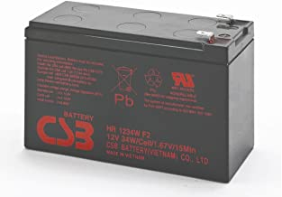 CSB HR1234WF2 - 12 Volt/9 Amp Hour (34 Watts) Sealed Lead Acid Battery with 0.250 in. Fast-on Terminals