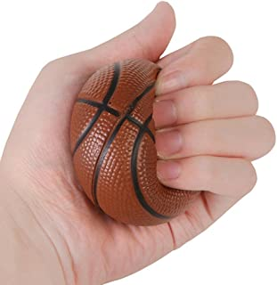 Stress Reliever Toy Basketball Squishies Charm Slow Rising Cream Scented Stress Relief Toy Gifts (Brown)