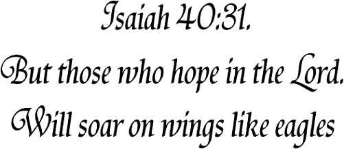 VWAQ But Those Who Hope In The Lord - Vinyl Decal Bible Verses For Wall Isaiah 40 31-18105