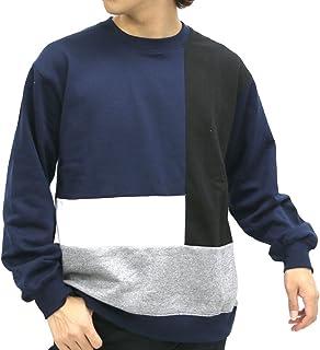 677fc4f0b1112 Timely Warning Men s Patchwork Sweatshirt Crew Neck Long Sleeve
