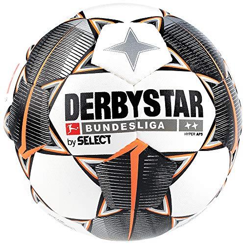 Derbystar Erwachsene Bundesliga Hyper APS Fußball, Weiss schwarz orange, 5
