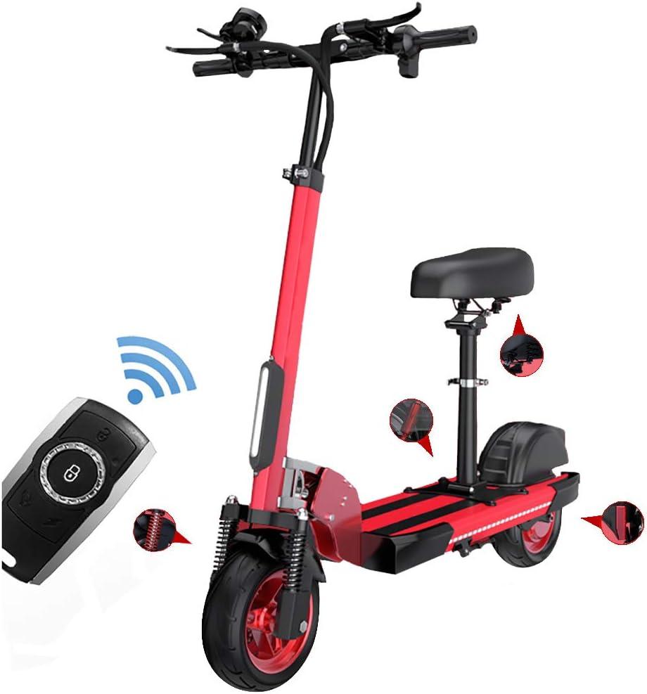 Patinetes Electricos con Asiento,Plegable E-Scooter 500W,10 ...