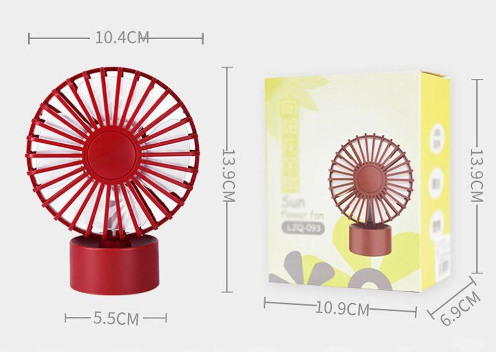 2-Speed Sun Flower Shape Mini USB Desktop Table Fan Handheld Electric Portable Personal Fan Computer PC Laptop Cooling Fan Bedside Summer Cooler Fans for Home Bedroom Office Travel