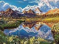 ダイヤモンドの絵画 Diyダイヤモンド刺繡山の風景ダイヤモンド絵画5D自然風景新着部屋の装飾