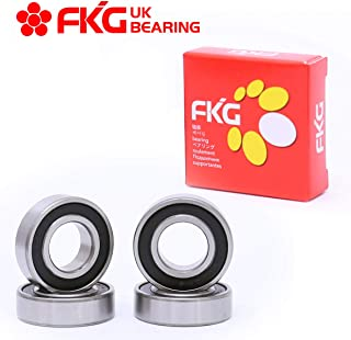 FKG 6203-2RS 17x40x12mm Deep Groove Ball Bearing Double Rubber Seal Bearings Pre-Lubricated 4 Pcs