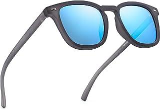 01d7d907ed Jim Halo Gafas de Sol Polarizadas de Espejo Retro Clásico Cuadrado Conducir Anteojos  Hombre Mujer