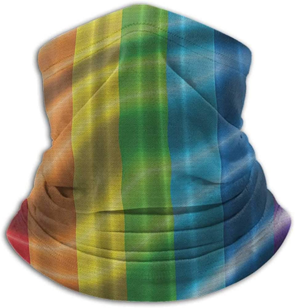 Neck Gaiters For Men Rainbow Flag Womens Neck Warmer Gay Pride Parade Fantasy Bathroom Love Wins Men Gifts for Gay Men Couple Symbol of Love Red Orange Yellow Green Blue Purple