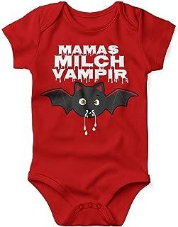 Mikalino Babybody mit Spruch für Jungen Mädchen Unisex kurzarm Mamas Milch Vampir   handbedruckt in Deutschland   Handmade with love