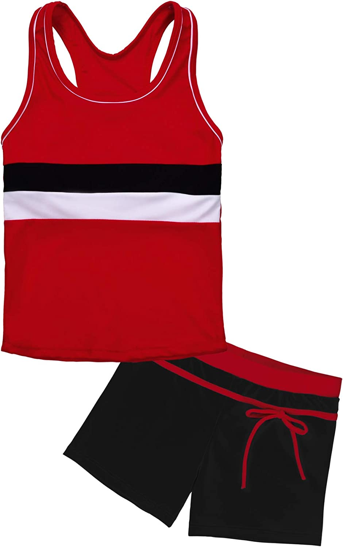 Uhnice Girls Swimsuit Two Overseas parallel import regular item Piece with Swimwear Mail order Boyshort Tankini