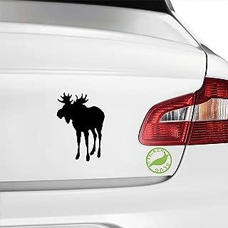 Moose Decal Sticker (black, 5 inch)