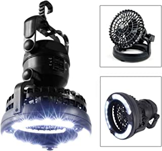 M&J Portable LED Camping Lantern with Ceiling Fan - Hurricane Emergency Survival Kit