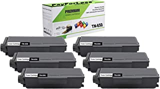 PayForLess Compatible Toner Cartridge TN650 TN-650 Black 6PK for Brother HL-5340d HL-5350dn HL-5370dw DCP-8085dn DCP-8080dn MFC-8480dn MFC-8890dw MFC-8680dn MFC-8690dw Printers
