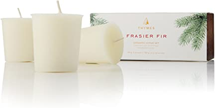 Thymes - Fragrant Frasier Fir Votive Candle Refill, 15-Hour Burn Time - 2 Ounces, Set of 3