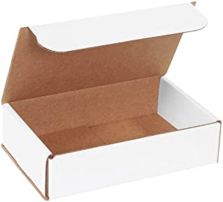 APQ 10 Pack White Corrugated Mailers 5 x 3 x 2 Fiberboard Boxes. Double-Walled Non Window mailers. Ideal for Lightweight, Fragile Items. Assemble Without Glue,Tape or Staples. Strong Recyclable Boxes