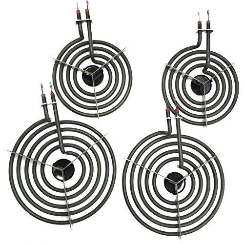 Cooking Appliances MP22YA Electric Range Burner Element Unit Set 2- MP15YA 6.5' 2- MP21YA 8'