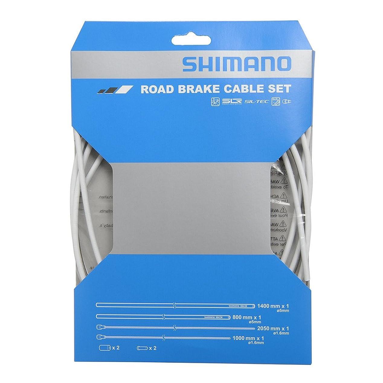 戸口セッティング識別SHIMANO(シマノ) PTFE ロード用ブレーキケーブルセット ホワイト Y80098012