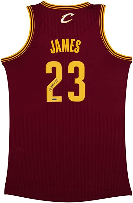 LeBron James Signed Cleveland Cavaliers Authentic Adidas Road ...