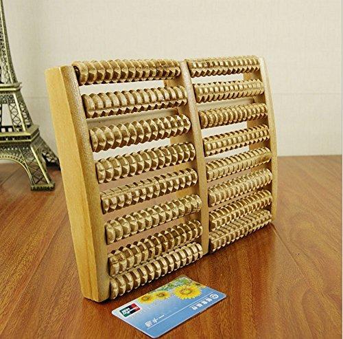 Dealglad® 2pcs madera Antiestrés Cuidado De La Salud Relax 8filas rodillo masajeador de pies