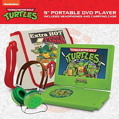 Ematic Teenage Mutant Ninja Turtles 9-Inch Portable DVD Player with Travel Bag and Headphones