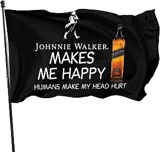 Bjdgthtyg Johnnie Walker Makes Me Happy Humans Make My Head Hurt Garden Logo Courtyard Decoration 35