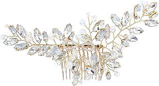 Gearific Peinados para el Cabello de la Novia de la Boda Diamantes de imitación de Plata Cristal Nupcial Tocado del Pelo Accesorios para el Cabello de la Boda para Las Mujeres