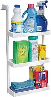 Jobar 3 Tier Space Saving Shelves, Single Set, White