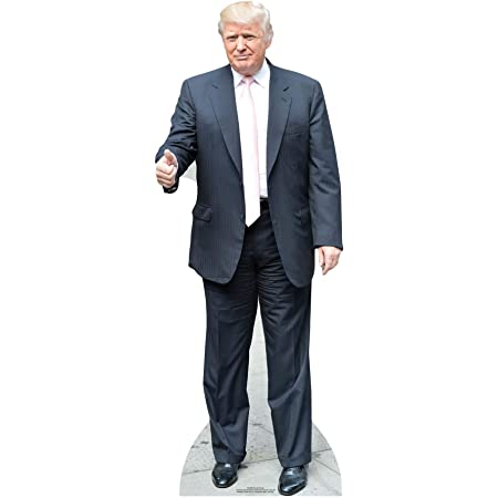 Star Cutouts Donald Trump (Rosa Tie) Vida tamaño de cartón Recortado: El, Multi Color