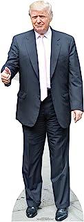Star Cutouts Donald Trump (Rosa Tie) Vida tamaño de cartón Recortado: El, Multi Color