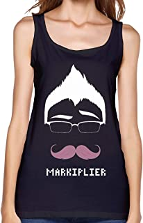 Momonage Women's Summer Tank Top Markiplier Warfstache Logo Shirts