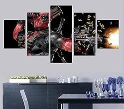 GUJIU-ART-5 قطع/5 لوحات لوحة قماشية مطبوعة ملصق 5 لوحات فيلم ديدبول لتزيين المنزل لوحات فنية جدارية عصرية بتصميم معياري لغرفة المعيشة  10CMx15/20/25CM