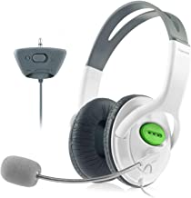 Insten Gaming Headset Headphone with Mic Compatible with Xbox 360 Wireless Controller, White