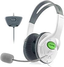 هدفون Insten Headset با Mic سازگار با کنترلر بی سیم Xbox 360 ، سفید