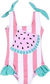 UONBOX Toddler Baby Girl Swimsuits One Piece Swimwear Cute Ruffled Bathing Suit Beachwear 6M-4T…