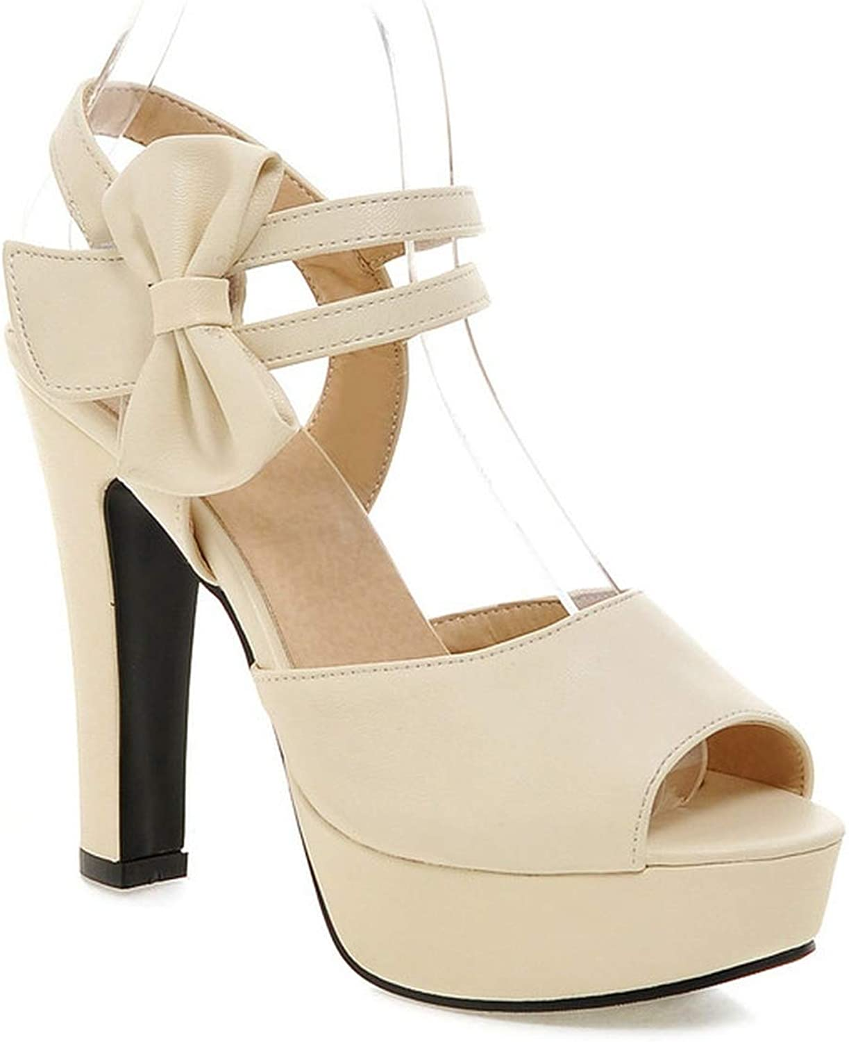 Women Sandals Platform Square High Heel Pu Leather Buckle Square High Heel Sexy Pumps