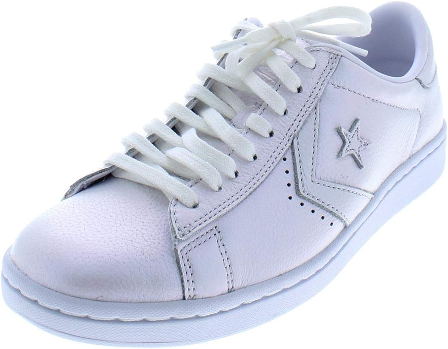 Converse PRO Leather LP OX Trainers Women White Silver Low top Trainers
