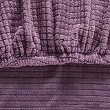 Fasyou Stretch Esszimmerstuhl Sitzbezüge Abnehmbare waschbare Anti-Staub Stuhl Sitzkissen Schonbezüge Haushaltszubehör für Hotel Esszimmer, 20-22 Zoll Helles Lila