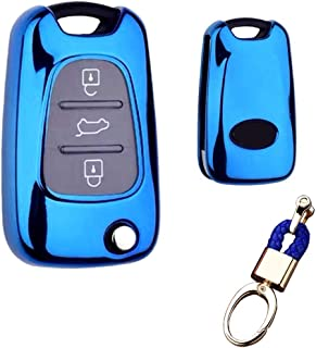 Royalfox(TM) 3 Buttons Soft TPU flip Folding keyless Remote Key Fob case Cover for Kia K5 K2 Sportage Rondo Soul Rio Optim...