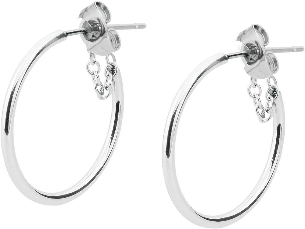 Brosway res jolie mini orecchini per donna in acciaio BTJM136