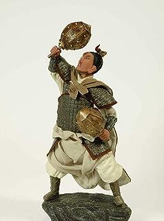 CAPRILO Figura Decorativa de Resina Samurai con Mazas. Adornos y Esculturas. Decoración Hogar. Regalos Originales. 20 x 14...