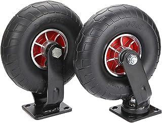 YJJT Heavy Duty wielen, werkbank Caster, massief rubberen wielen, 2-wielen belasting 600kg, stil, antislip, stevig en duur...