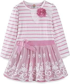 Áo quần dành cho bé gái – Little Girls Casual Long Sleeve Stripe Dress