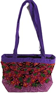 ROCOCO EMBROIDERED MEXICAN HAND CRAFTED SHOULDER PURSE BOLD BEAUTIFUL COLORS