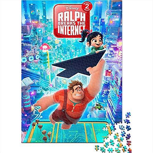 CELLYONE 1000 Stück Puzzle Ralph Breaks The Internet Movie Poster Puzzle für Erwachsene 1000 Teile DIY Home Entertainment Spielzeug für Jugendliche 52x38CM(1000pcs)