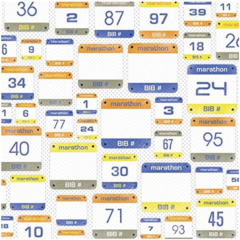 Karen Foster Design Scrapbooking Paper, 25 Sheets, Marathon Numbers, 12 x 12